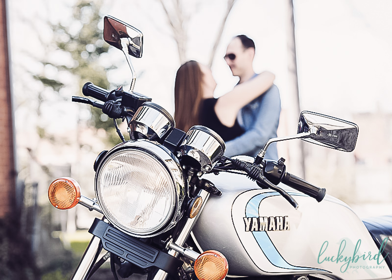 Columbus motorcycle engagement photography