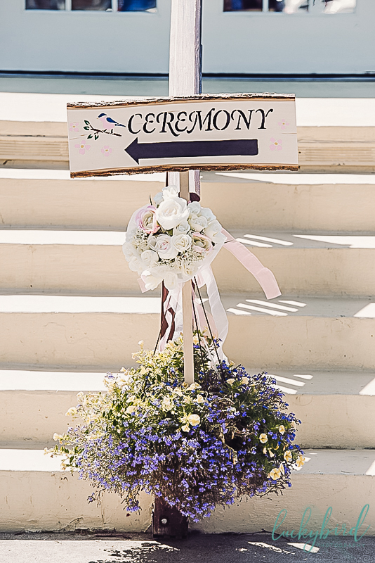 ceremony sign at catawba island club