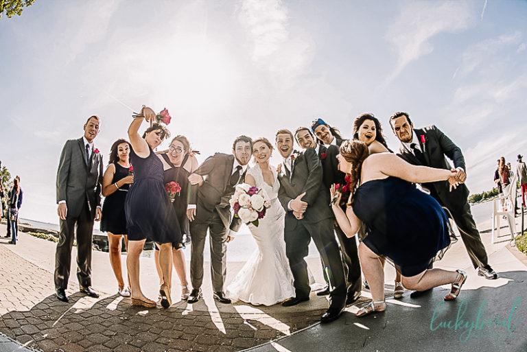fun bridal party photo at catawba island club