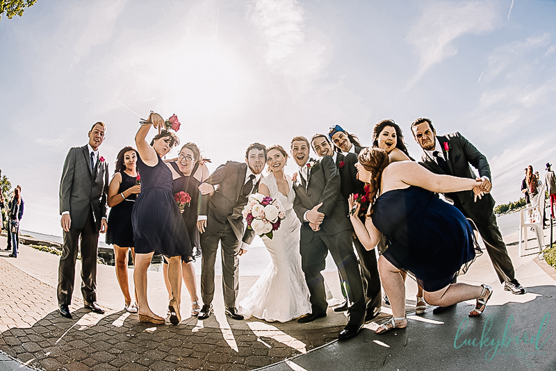 fun bridal party photo at catawba island club