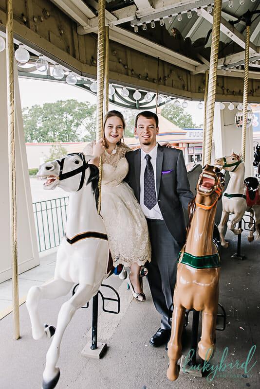 cedar point carousel wedding