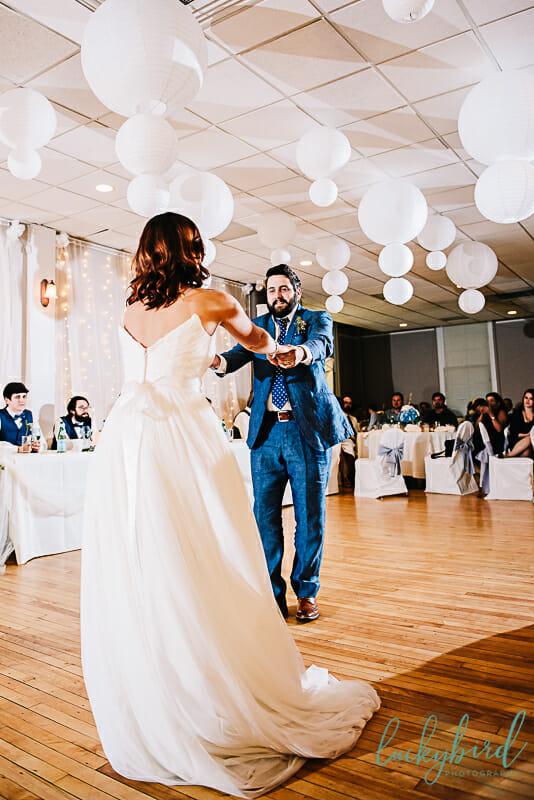 dancing wedding photo at monclova community center