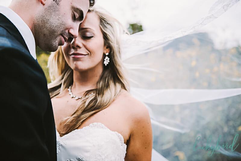 romantic toledo wedding photos with veil