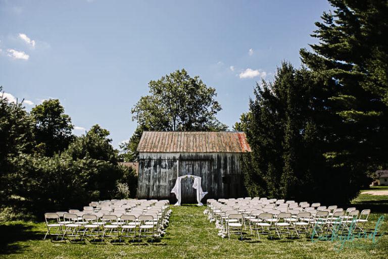 wedding ceremony at monclova community center