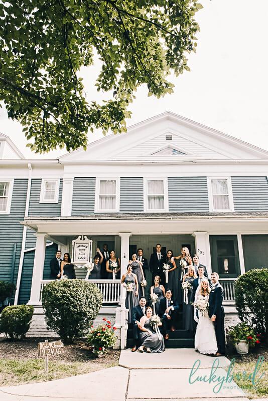 wedding party photos outside of carranor