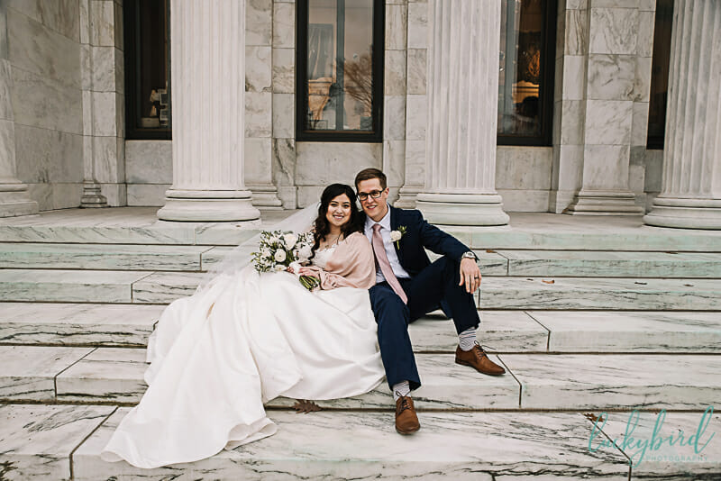 toledo museum of art wedding photo