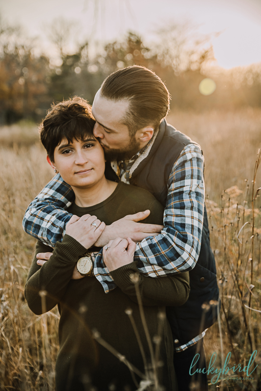 fall engagement photos in toledo
