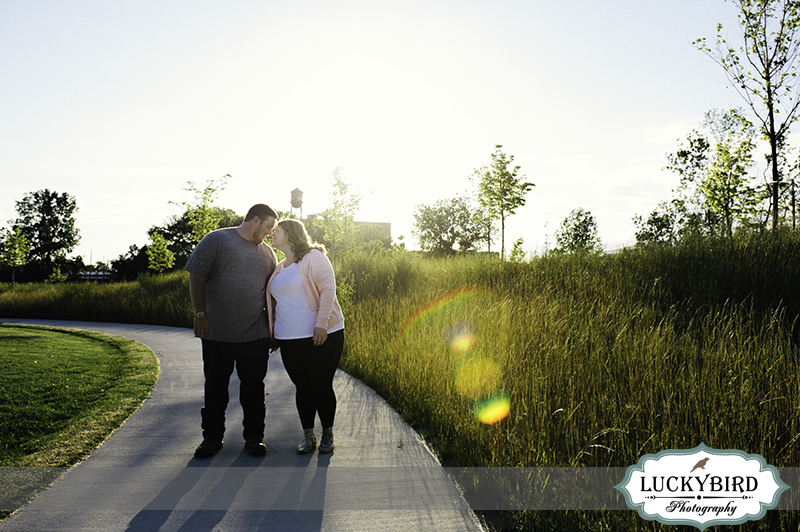 middlegrounds park engagement photo