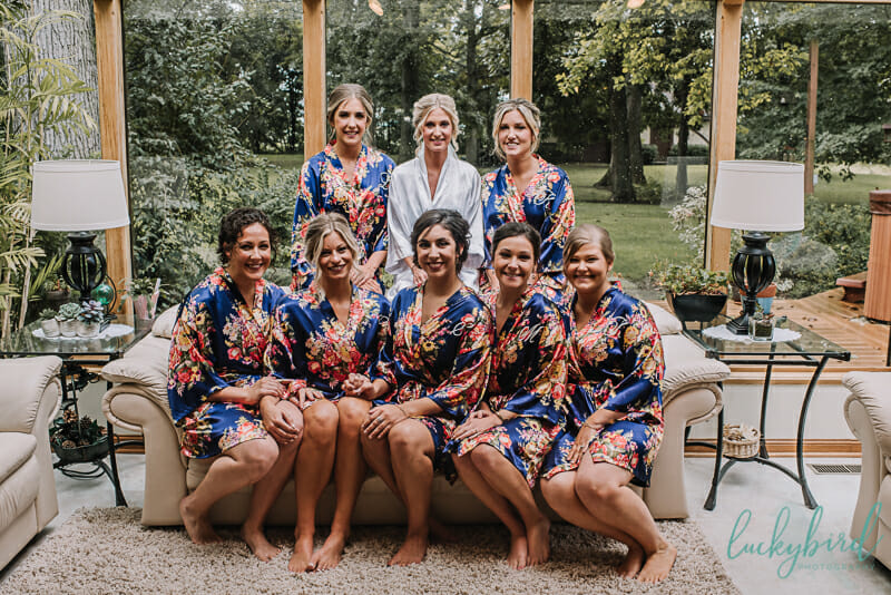 bridesmaids and robes in toledo