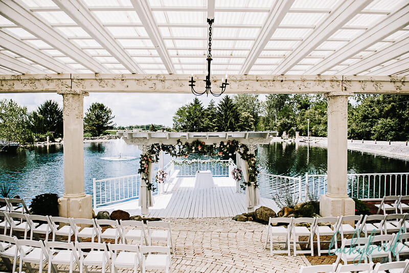 outdoor ceremony at soserene