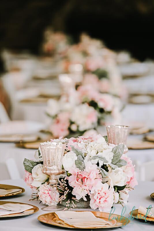 soserene wedding reception centerpieces blush
