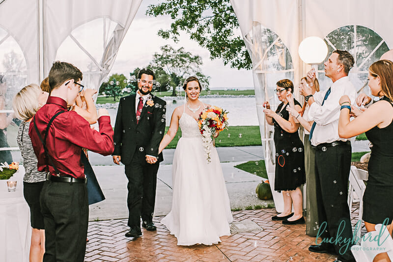 bubble photo at maumee bay wedding
