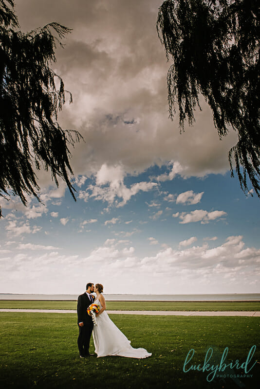lake erie first look wedding photo maumee bay