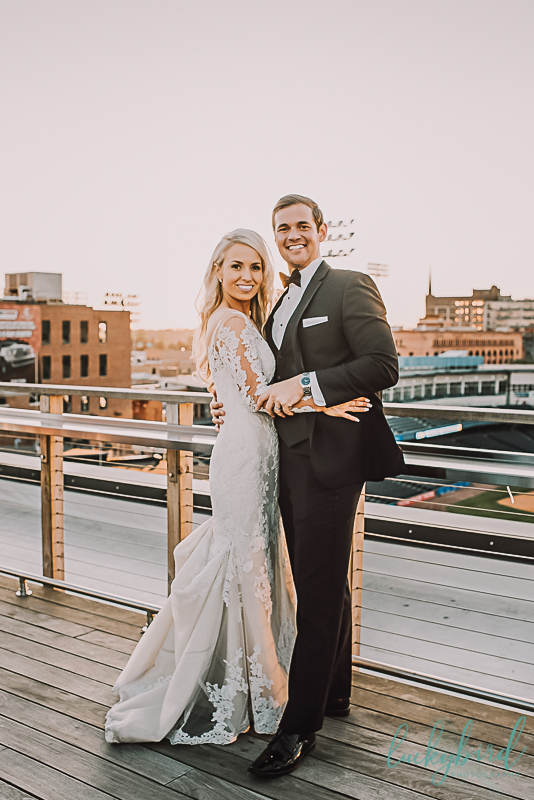 rooftop sunset wedding photos at hensville
