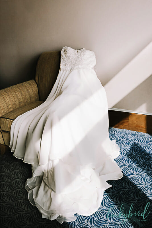 wedding dress at maumee bay