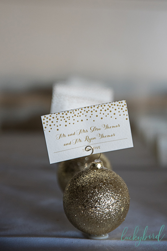 christmas wedding placecards toledo