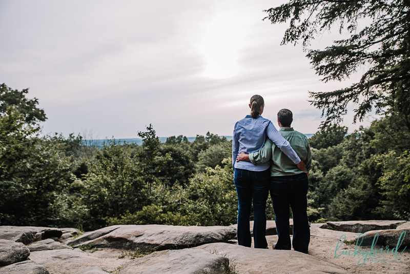cuyahoga valley park overlook engagement photo