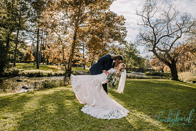 sidecut maumee wedding photos with fall colors