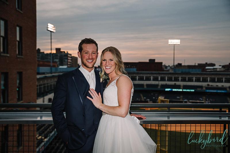 holy toledo rooftop wedding photo
