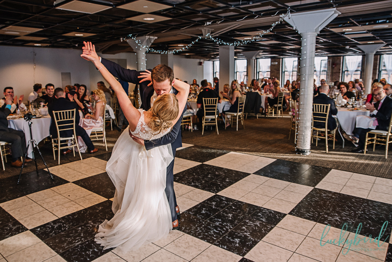 holy toledo wedding photo during first dance