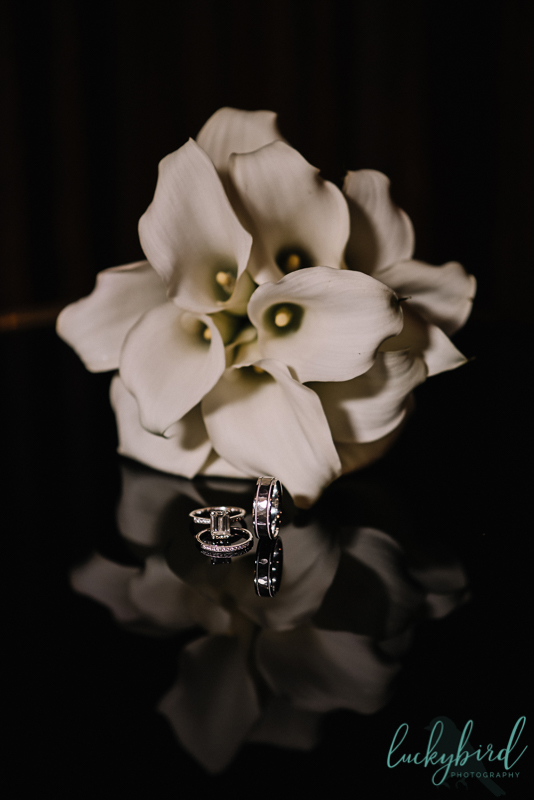 ring photo with mirror and flowers