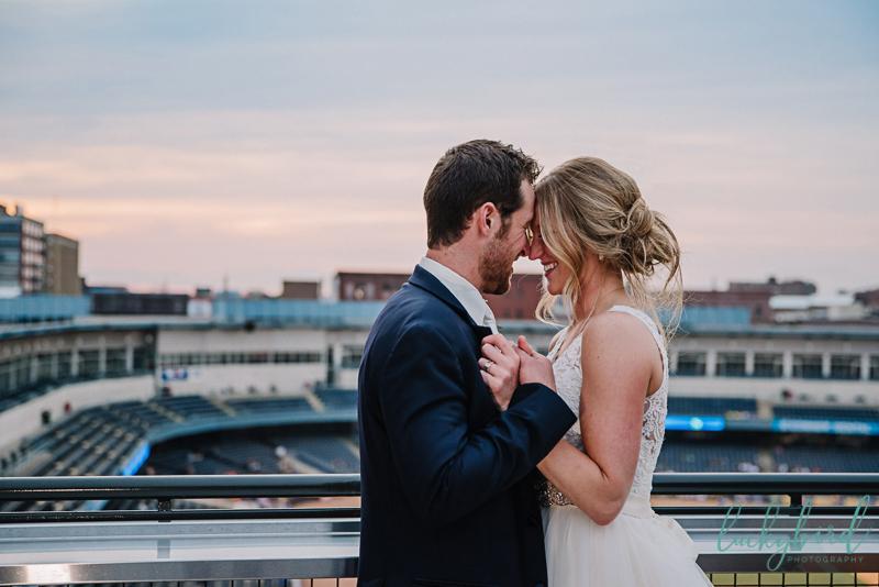 rooftop toledo wedding photography
