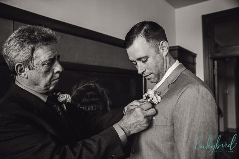 groom getting ready at nazareth hall