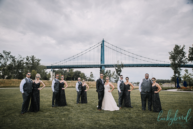 middlegrounds wedding party photo