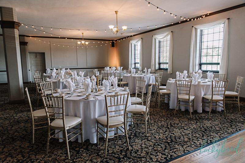 nazareth hall wedding reception details in gabriel ballroom