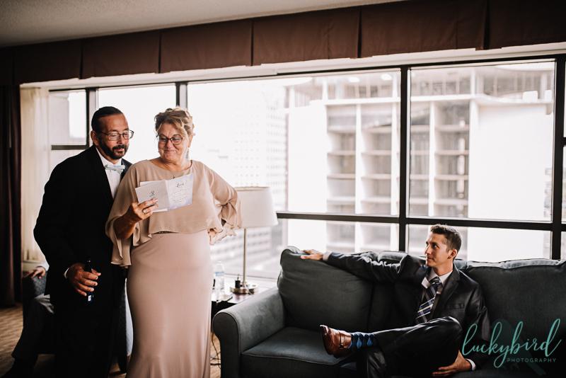 park inn grooms parents gift