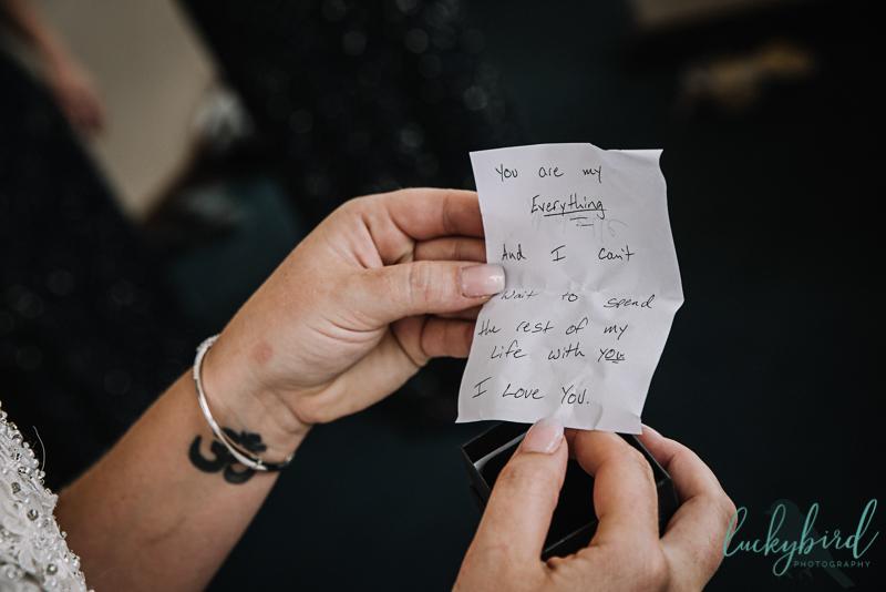 park inn note from groom