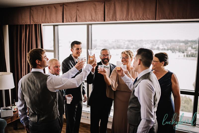 park inn toast with groom