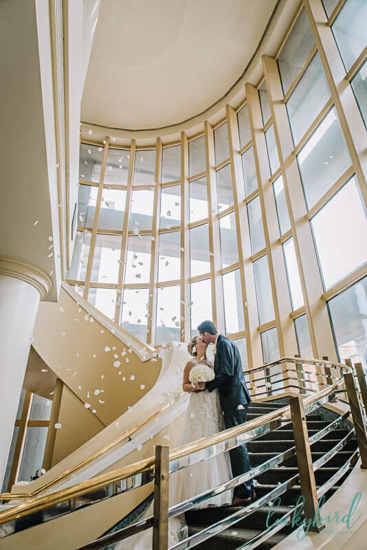 park inn wedding staircase photo