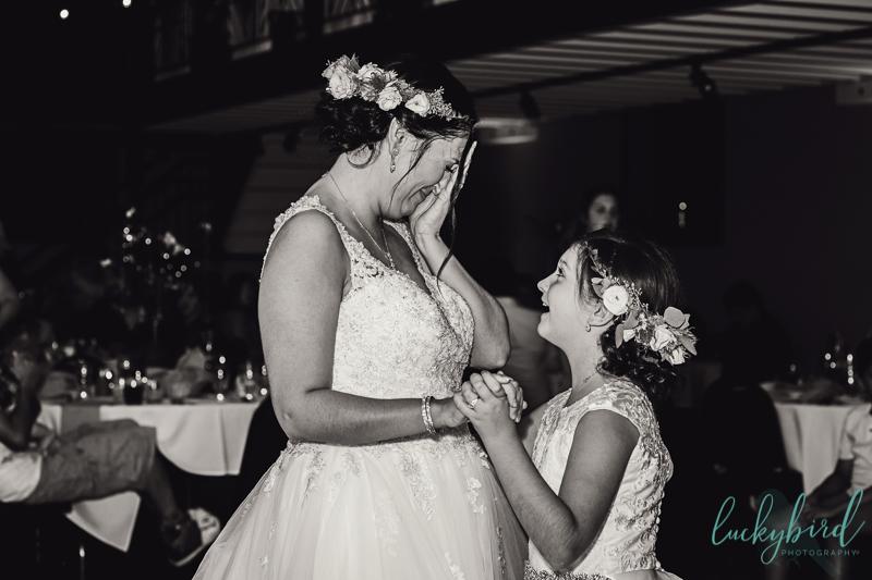 bride and daughter nazareth hall dance