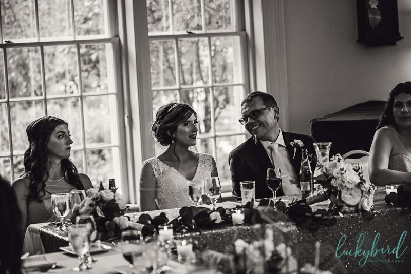 bride and groom at wildwood manor house