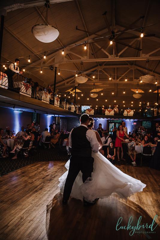 first dance photo at nazareth hall
