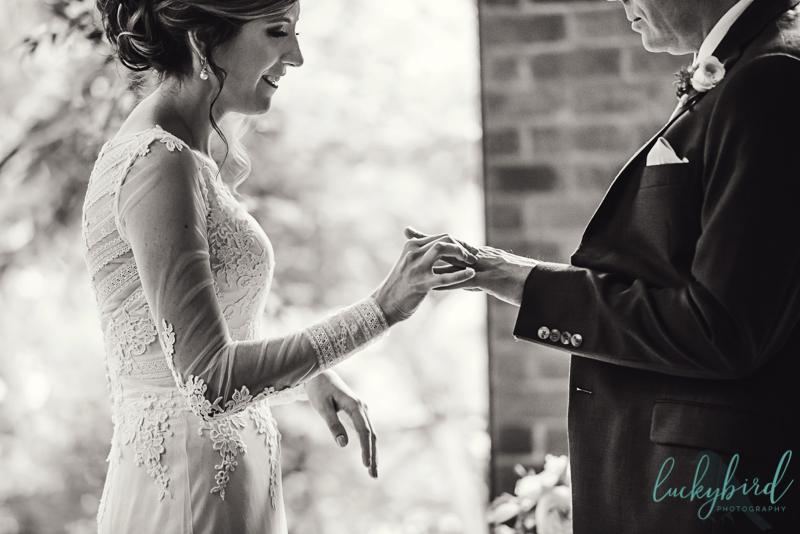 rings exchanged toledo wedding photo