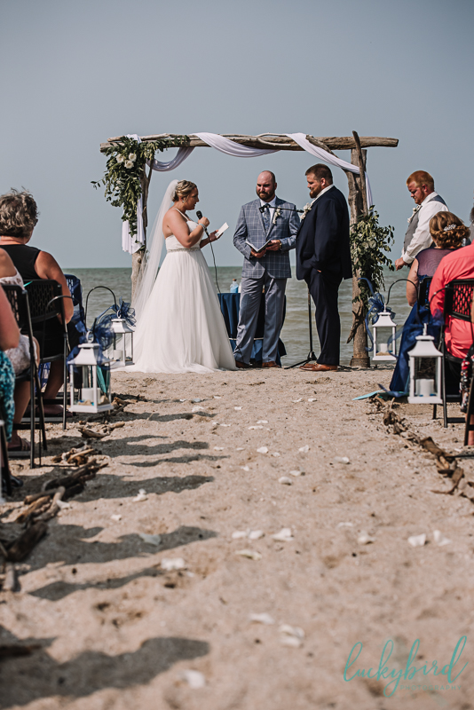 docks beach house wedding in the sand