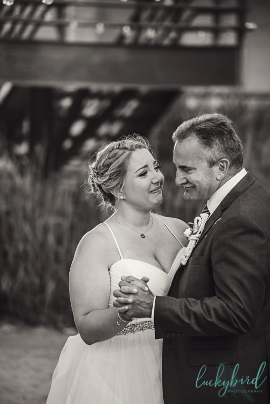 father daughter dance at docks beach house