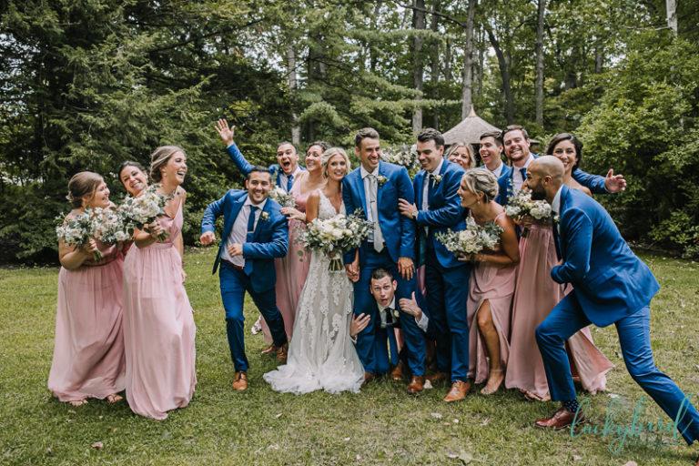 fun toledo botanical garden bridal party
