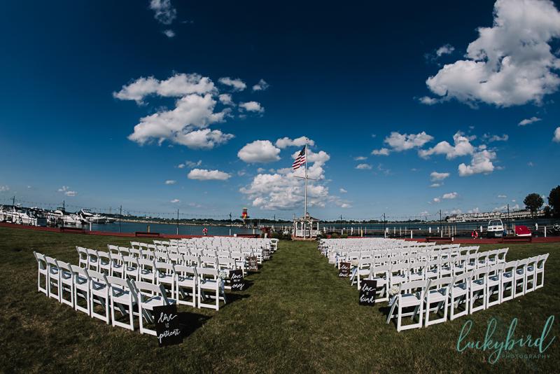 lyman harbor outdoor wedding ceremony
