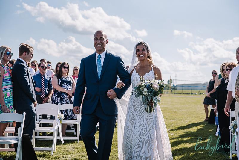 lyman harbor wedding ceremony photos