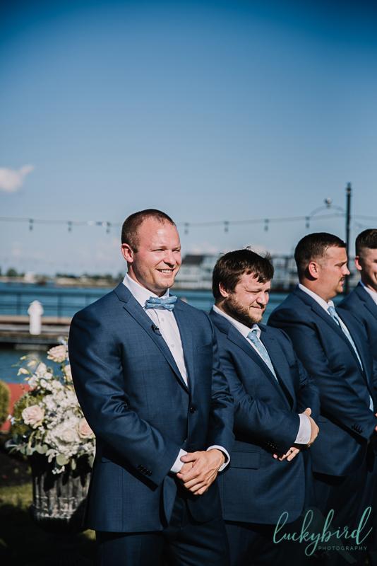 lyman harbor wedding photography ceremony