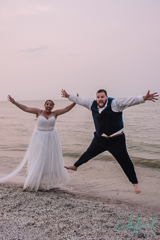 toledo beach jumping photo for wedding