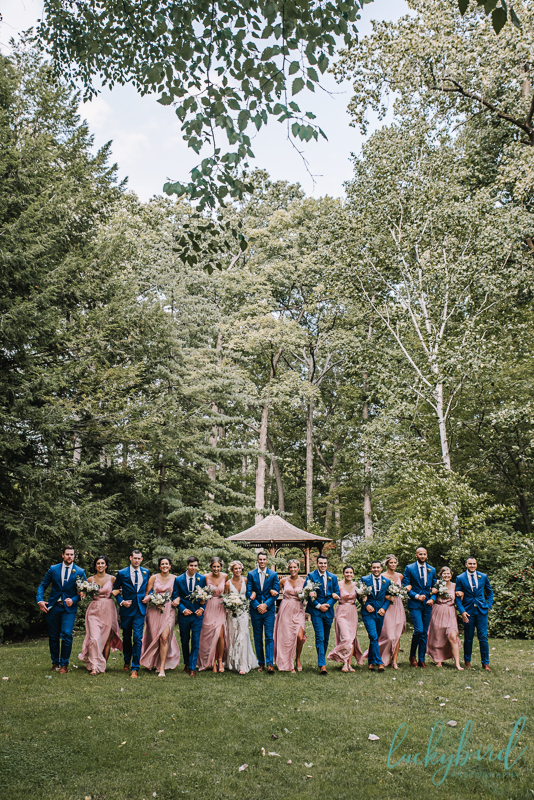toledo botanical garden bridal party photo