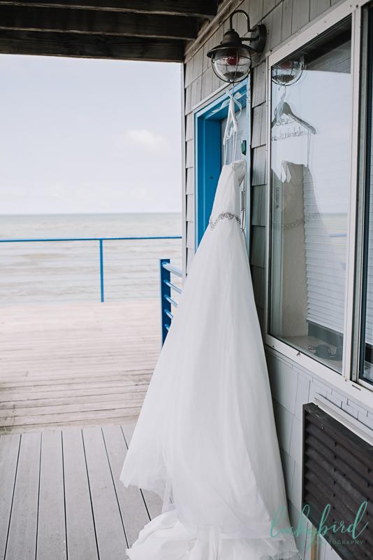 toledo wedding dress hanging beach