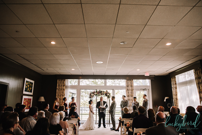 ceremony at belmont country club