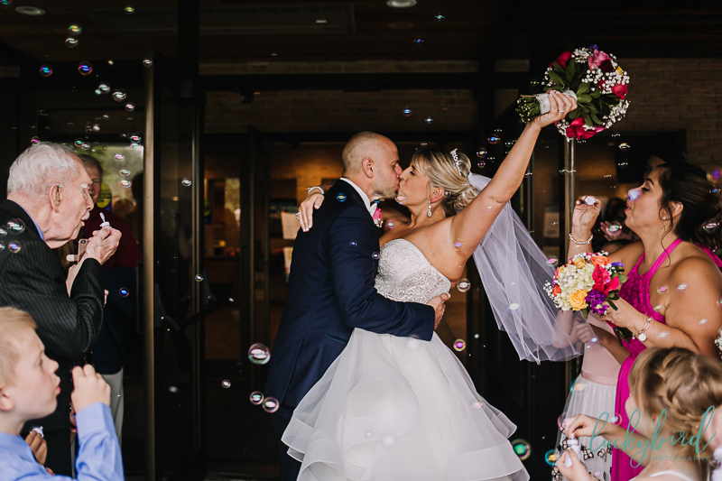 chicago bride and groom kissing photo
