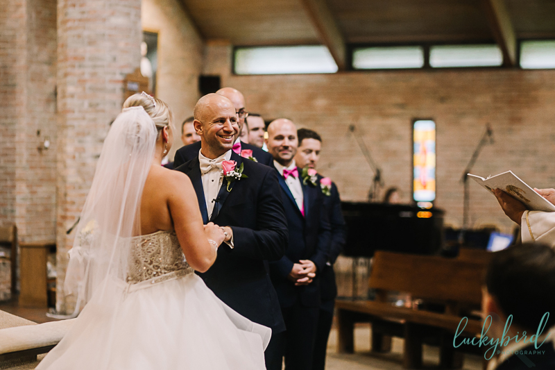 chicago bride and groom saying vows