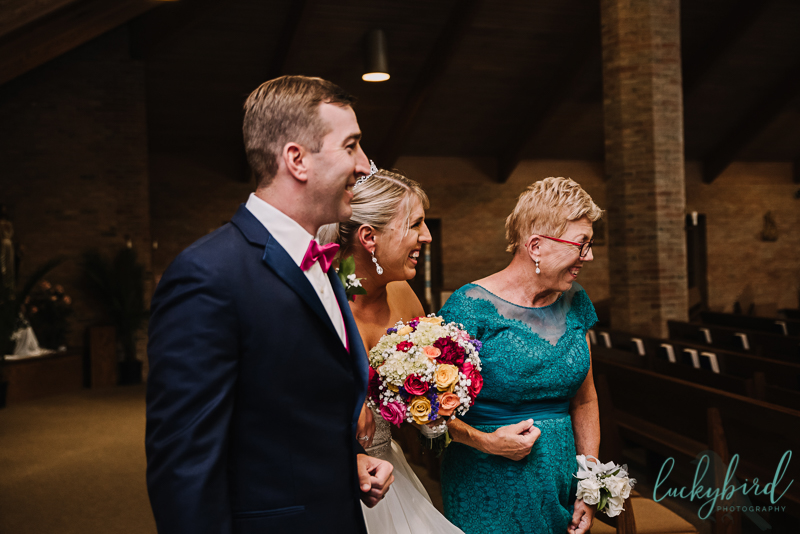 chicago bride seeing groom when she walks down the aisle